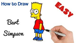 How to Draw Bart Simpson | The Simpsons Art Tutorial