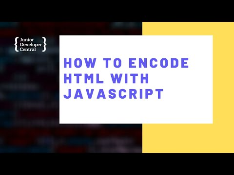 How To Encode HTML With JavaScript