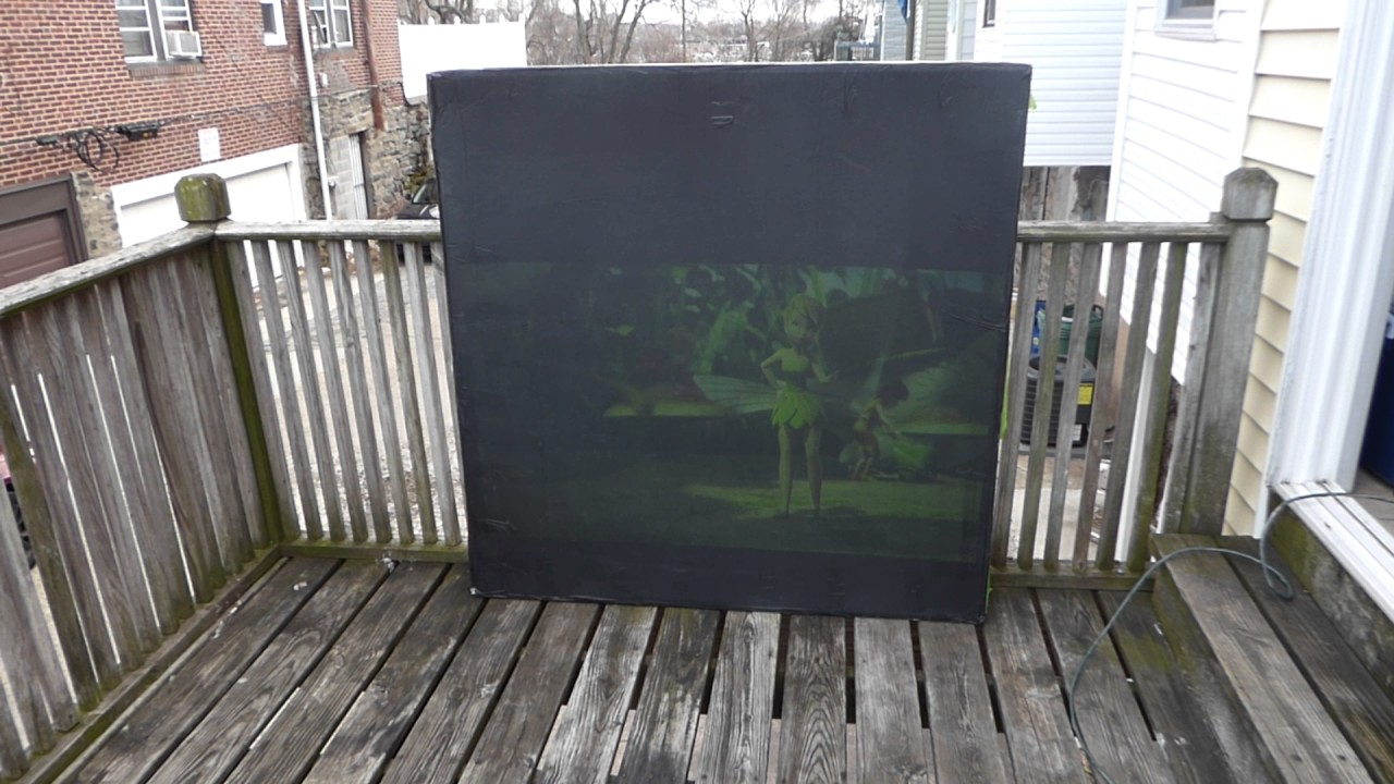 ULTRA 4K BLACK SCREEN PAINT OUTSIDE 3:45 PM USING THE NEC