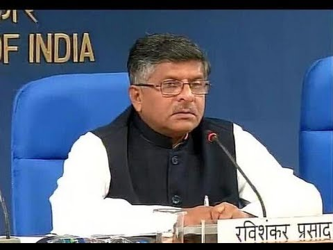 Press Conference by Union Minister Ravi Shankar Prasad