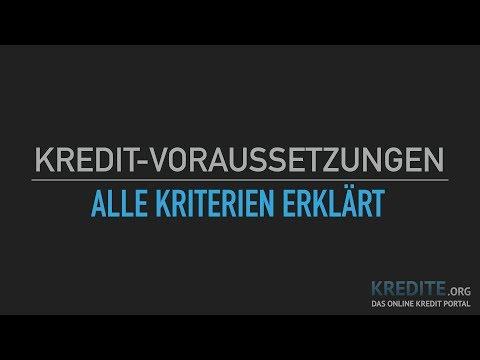 Kreditvoraussetzungen Schnell Erklärt!