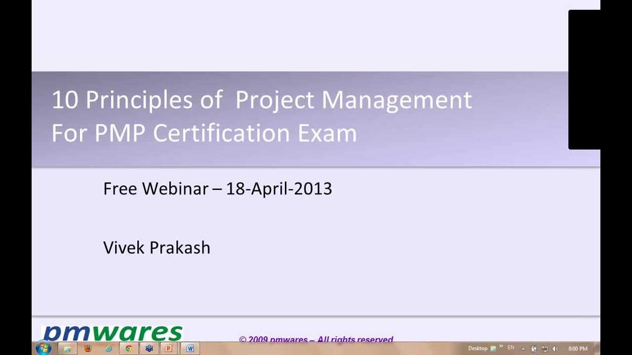Free webinar 10 principles of project management for pmp exam free webinar 10 principles of project management for pmp exam by pmwares xflitez Gallery