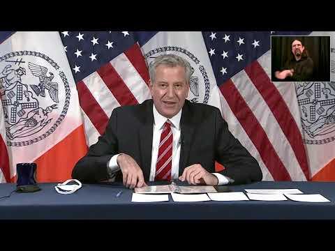 LIVE: NYC Mayor Bill De Blasio Provides A Coronavirus Update