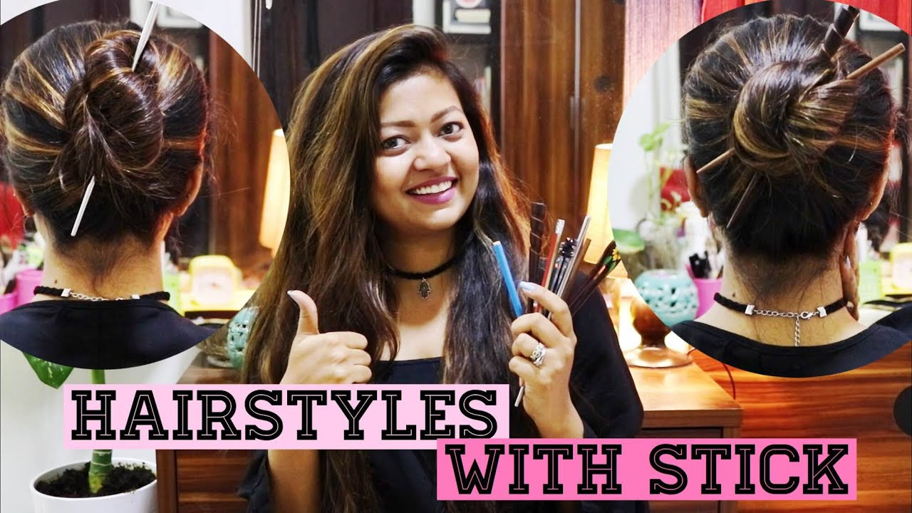 Easy Hairstyles With Stick How To Use Hair Stick Hair Fork