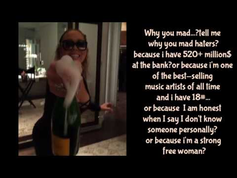 Why you mad? Mariah Carey