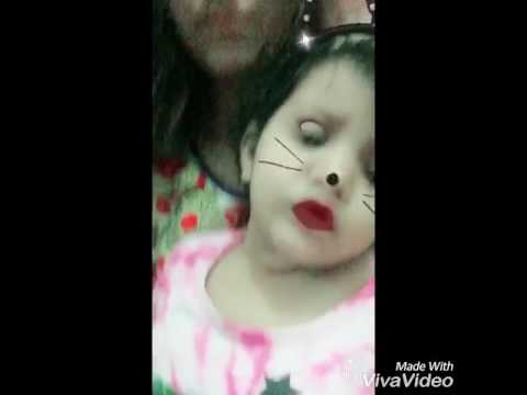 Baby turned into cat infront of camera