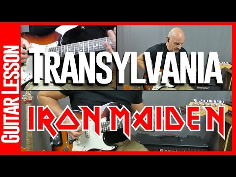 Transylvania By Iron Maiden - Guitar Lesson mp3
