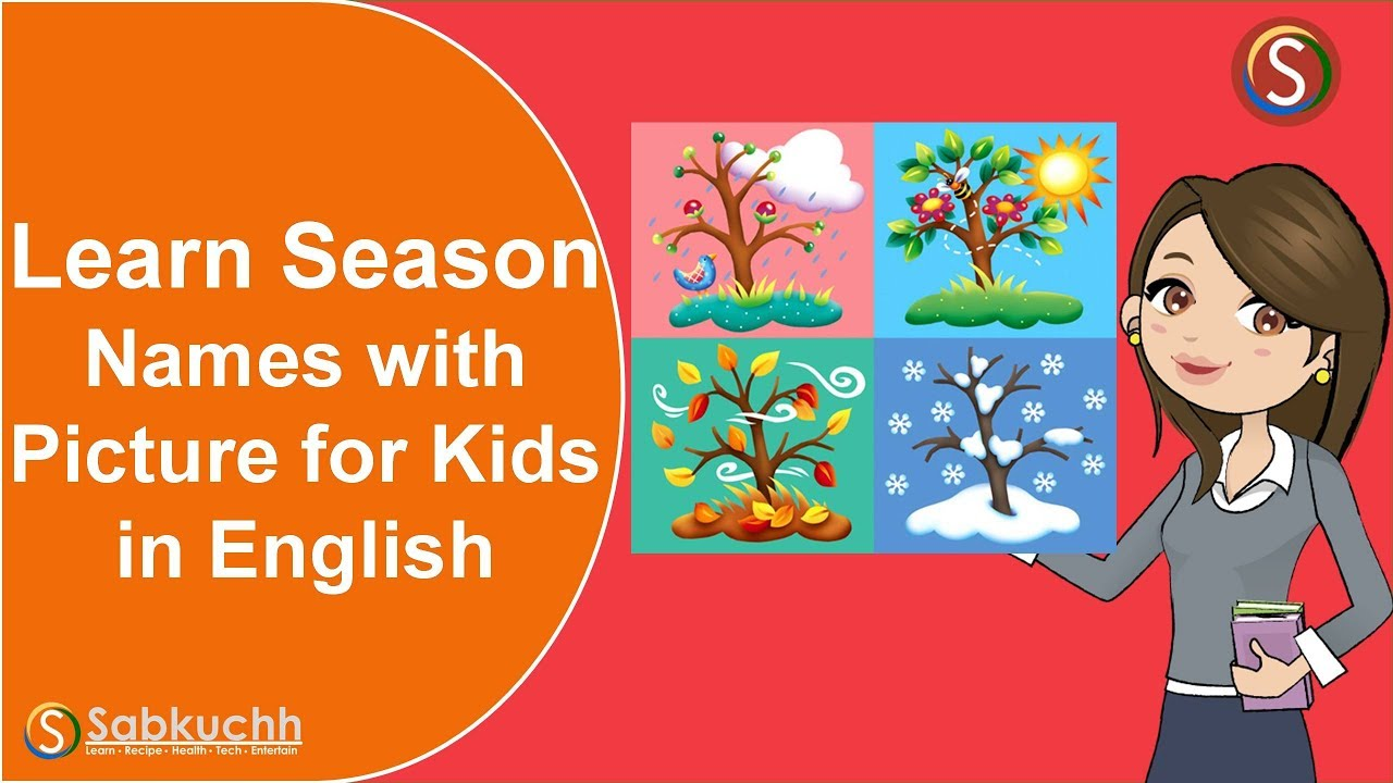 Learn 4 Season Names in English | Kids Vocabulary Four Seasons Name Rhymes