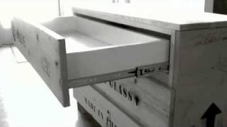 Recycled Crate Dresser
