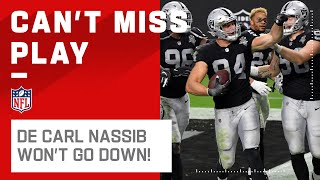 Carl Nassib REFUSES to Go Down After Picking Off Lock