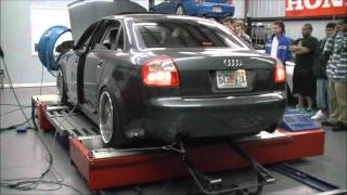 Audi A4 exhaust on dyno