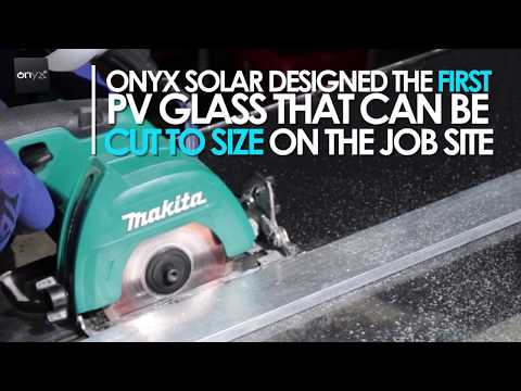 Solar PV Glass cut to size on the job-site