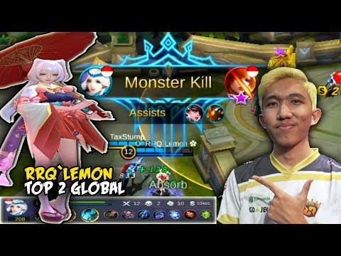 "GILA' ! Kaguranya ""RRQ`Lemon ✿"" Emang Monster | Build By Top Global Kagura | Mobile Legends"