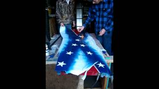 Confederate Flag Tailgate Painting