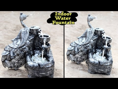 Amazing Beautiful Indoor Tabletop Peacock Water Fountain Peacock Waterfall Fountain Youtube