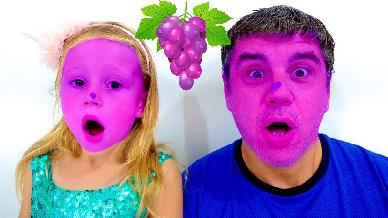 Песенка для детей про фрукты и цвета от Лайк Настя