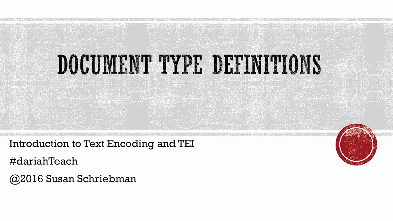Document type definitions youtube baditri Images