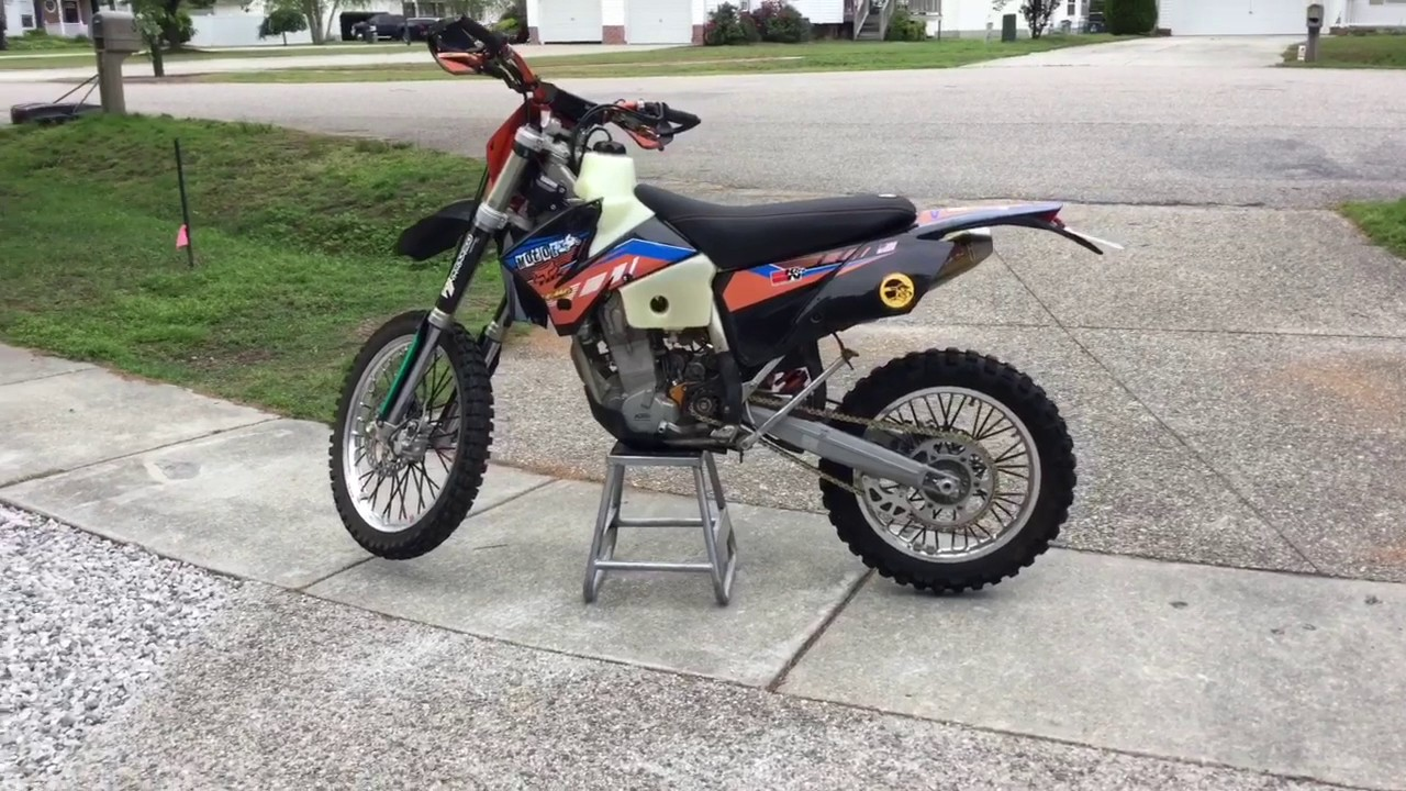 2005 ktm 450 exc street legal dual sport - youtube