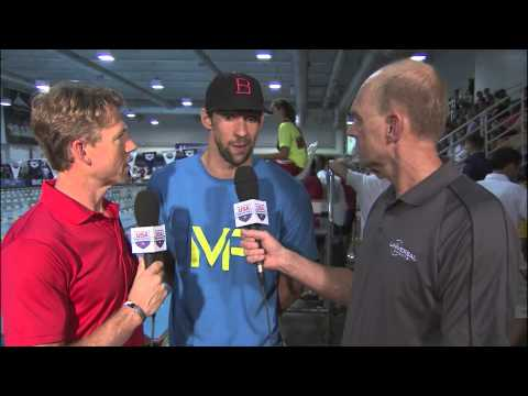 Michael Phelps Interview at the Arena Pro Swim Series at Charlotte