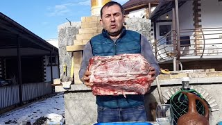 Meat in the oven Caucasus style. ENG SUB.