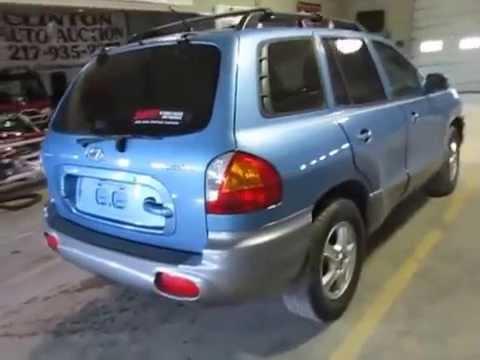 2004 Hyundai Santa Fe to be SOLD at auction Wed. April 1, 2015 @ 6:30 PM