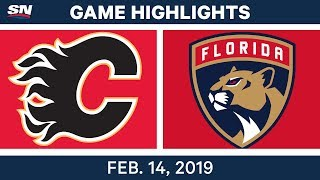 NHL Highlights | Flames vs. Panthers - Feb 14, 2019
