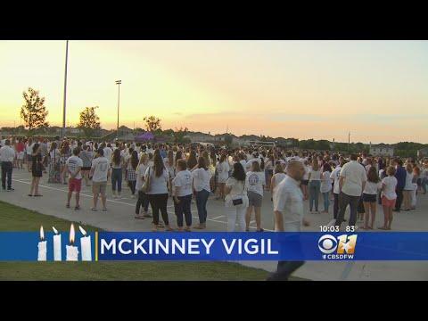 Vigil Held At McKinney North High School Where Student Killed Self