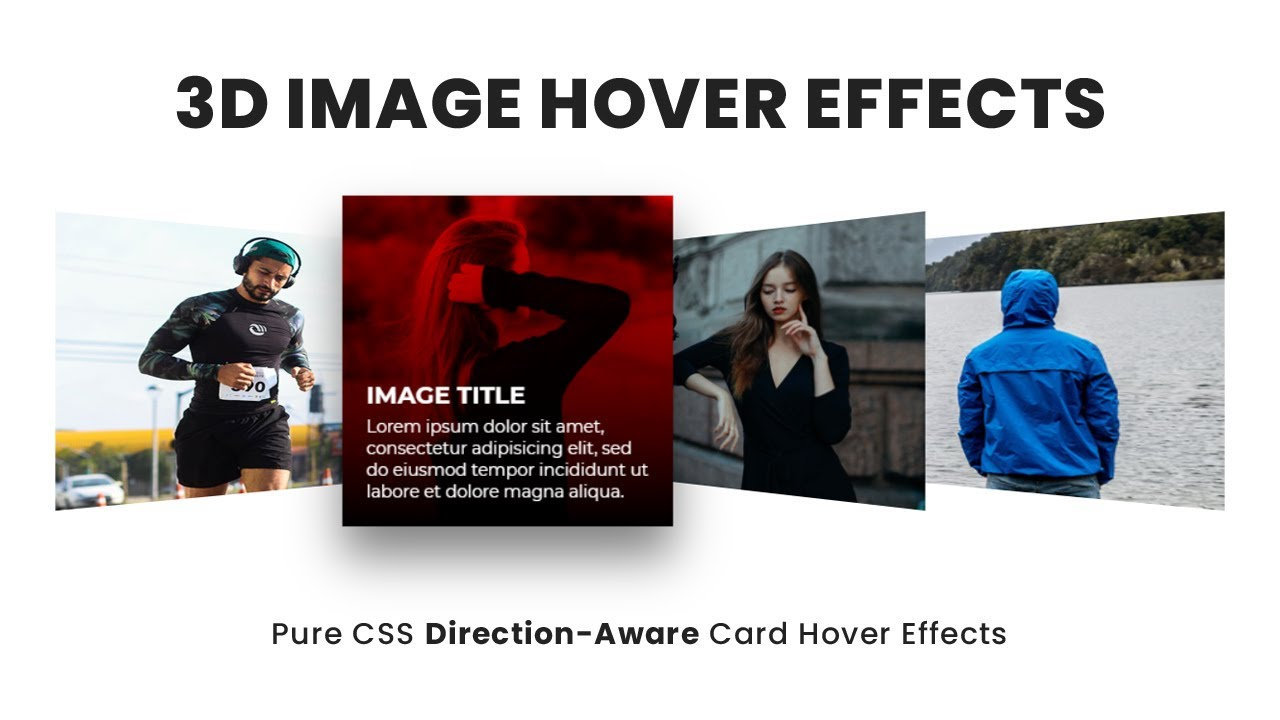 CSS 3D Image Hover Effects | Pure CSS Direction-Aware Card Hover Effects