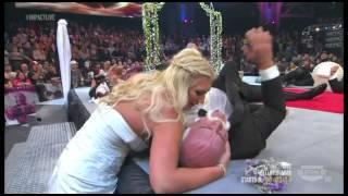 Brooke Hogans boobs pop out