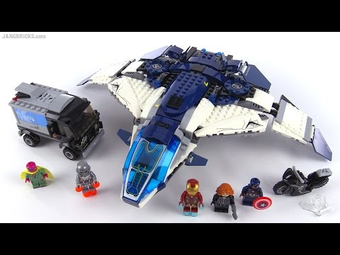 LEGO Marvel The Avengers Quinjet City Chase Review! Set 76032