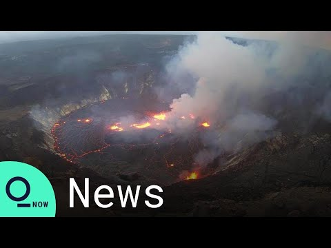 Kilauea Volcano Erupts Again, Lava Fountains Form