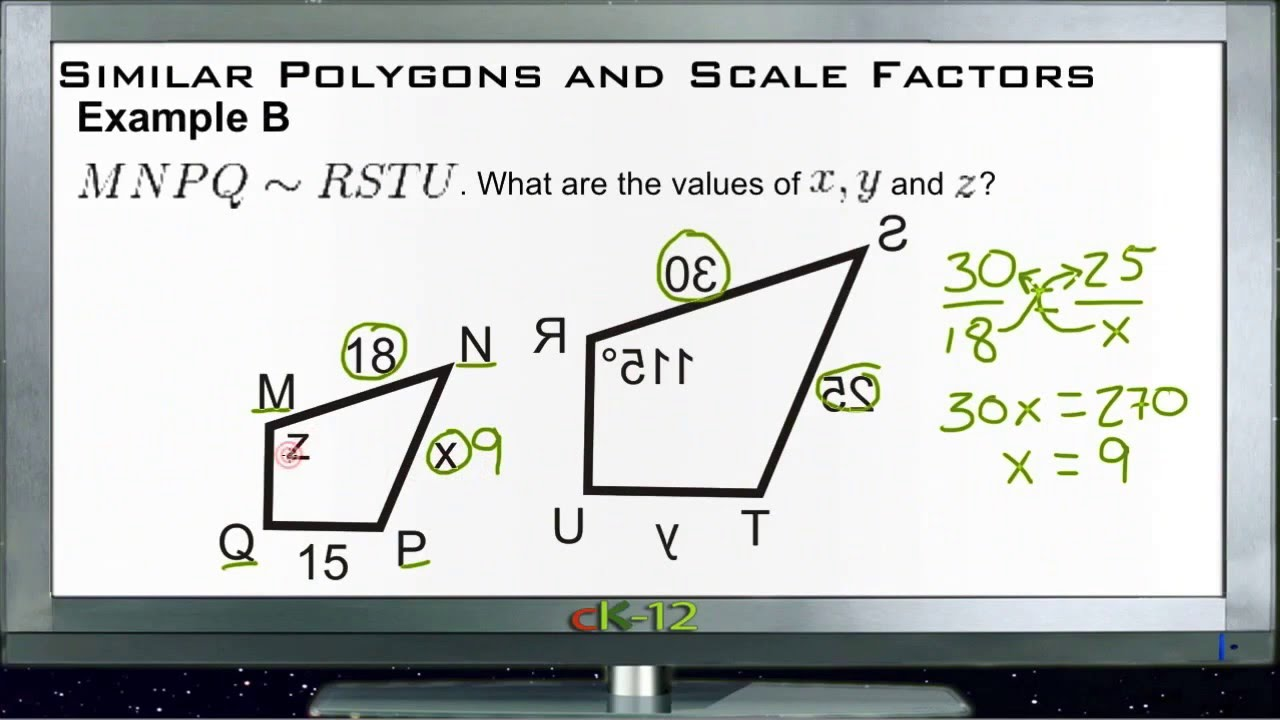 Similar polygons and scale factors examples basic geometry similar polygons and scale factors examples basic geometry concepts youtube ccuart Images
