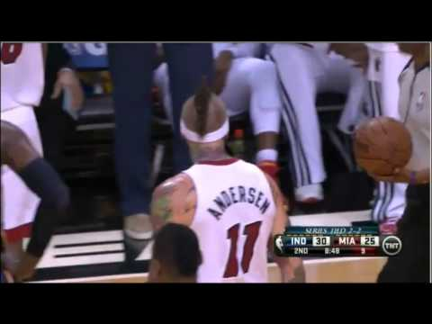 Chris Andersen blocks Tyler Hansbrough  | Game 5  | Pacers-Heat | NBA Playoffs 2013 | HD