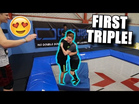 HE DID HIS FIRST EVER TRIPLE FLIP!