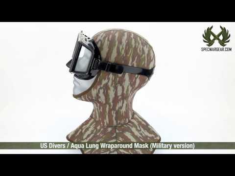 US Divers / Aqua Lung Wraparound Mask (Military version)