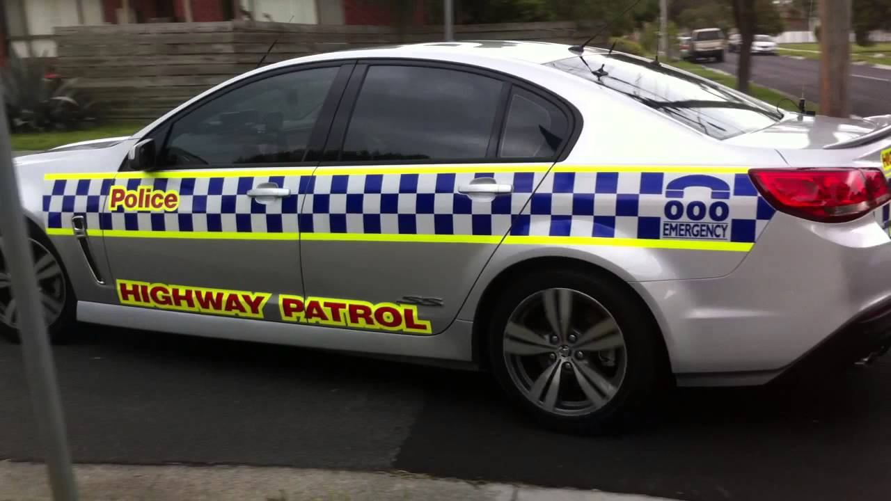 Victoria Police Highway Patrol Leaving Car Crash Youtube
