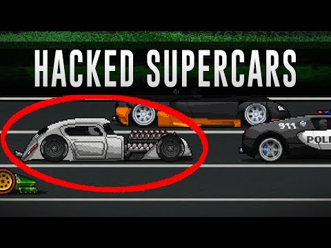 PIXEL CAR RACER - MODDED SUPERCARS! (GAMEPLAY)