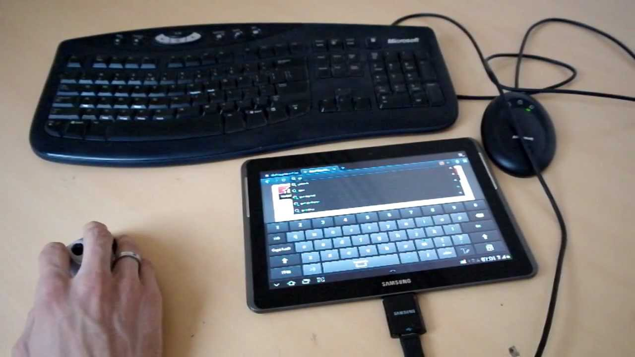 samsung galaxy tab 2 10 1 with keyboard en mouse works