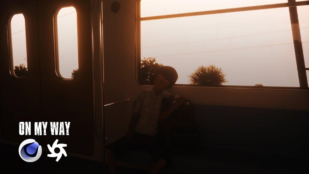 On My Way - Animation video | Cinema 4D & Octane Render + Adobe fuse