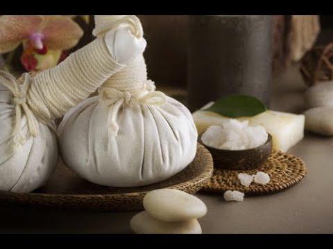 Лечебный массаж пуансонами(травяными мешочками. Учебное видео. Кенеллия.