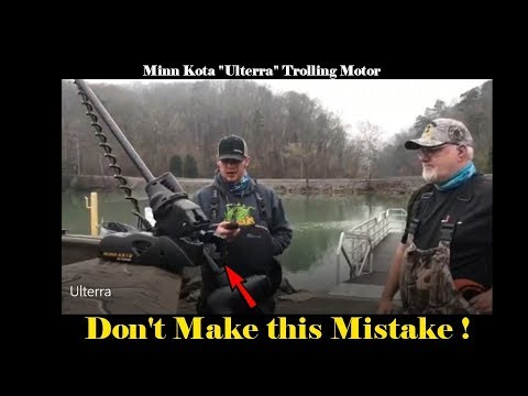 "Minn Kota ""Ulterra"" Trolling Motor: Set-up and Tips !"