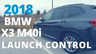 2018 BMW x3 M40i Launch Control POV and exhaust note