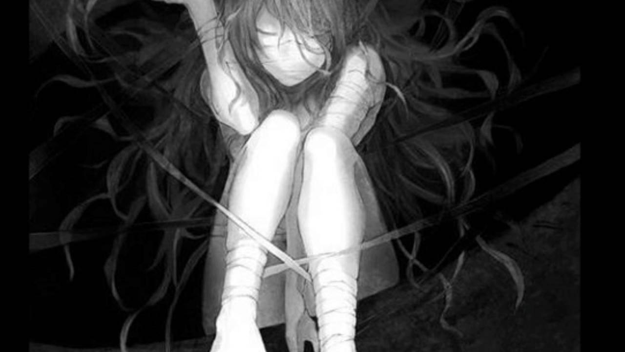 Anime scary doll