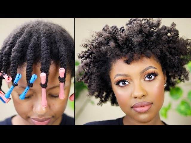 FLAT TWIST OUT TUTORIAL ON NATURAL HAIR