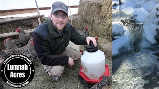 HOW to KEEP your CHICKENS WATER from FREEZING OFF-GRID HACK