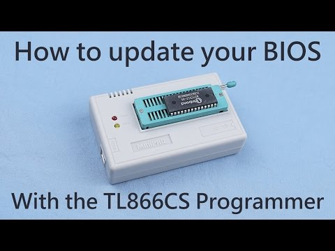 BIOS flashing with the TL866 programmer - YouTube