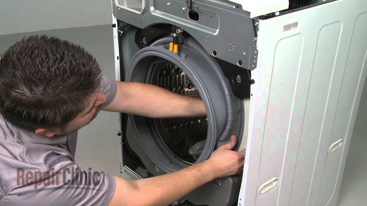 Replace Lg Front Load Washer Door Boot Seal Mds47123604 Youtube Washing Machine Drain Hose Additionally Wiring Diagram