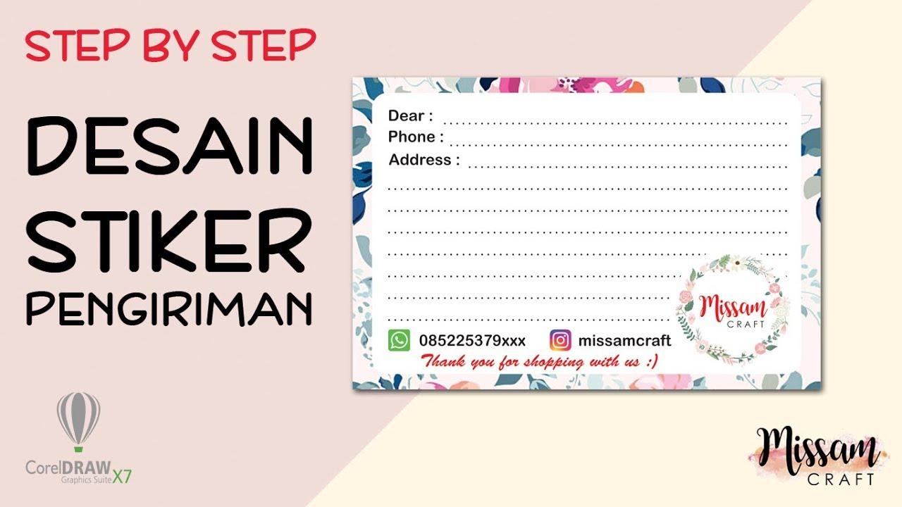 Step By Step Membuat Stiker Pengiriman Missam Craft Youtube