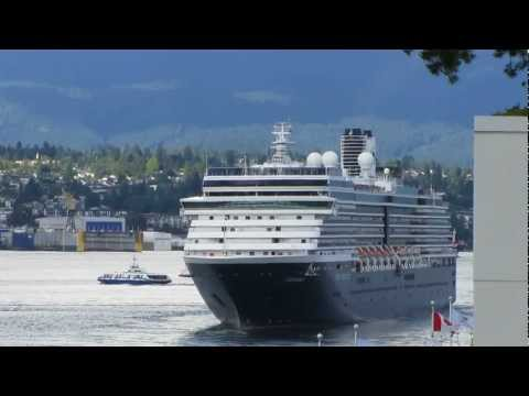Cruise ships in Vancouver BC, 2012