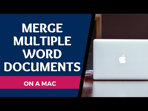 Merge Multiple Word Documents Using A Mac | Combine Word Files W/ Automator  (2020)